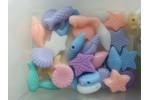Бусины акрил разноцветные Морская история 10 мм
