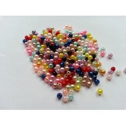Бусины акрил разноцветные мелкие 4 мм