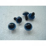 Глазки кукольные голубые рифленые