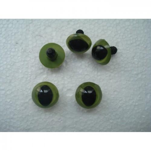 Глазки кукольные кошачий взгляд цвет зеленый