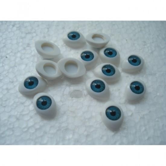Глазки кукольный живой взгляд цвет голубой 12 на 8 мм