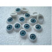 Глазки кукольный живой взгляд цвет голубой 13 на 10 мм