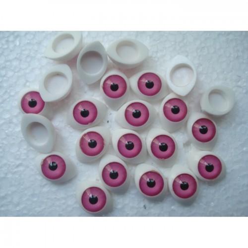 Глазки кукольный живой взгляд цвет розовый
