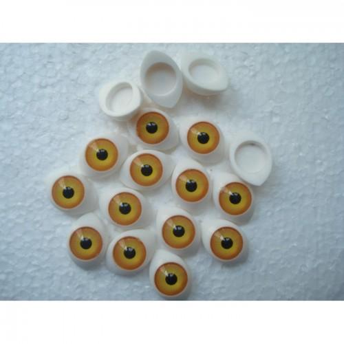 Глазки кукольный живой взгляд цвет желтый