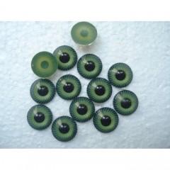 Глазки кукольные зеленые клеевые 12 мм
