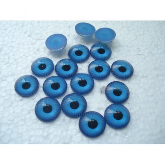 Глазки кукольные голубые клеевые 12 мм