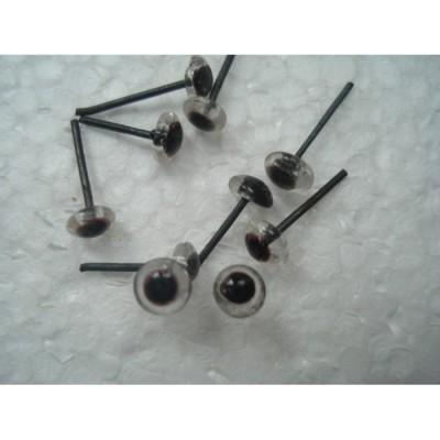 Глазки для игрушек стеклянные прозрачные 3 мм