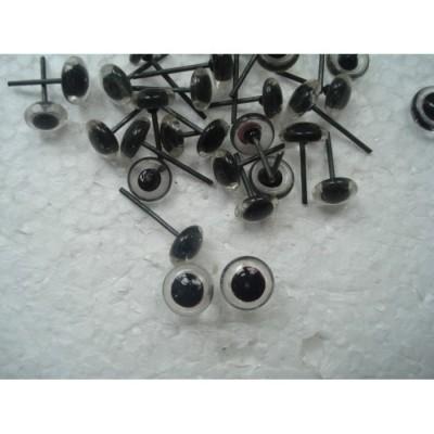 Глазки для игрушек стеклянные прозрачные 5 мм