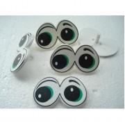 Кукольные глазки двойные зеленые