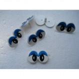 Глазки кукольные двойные голубые бровки