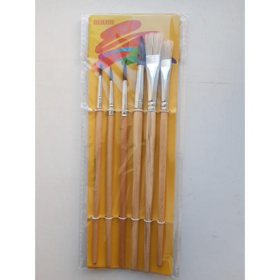 Набор кисточек для рисования 6 штуки Пегашка Peppy Pinto