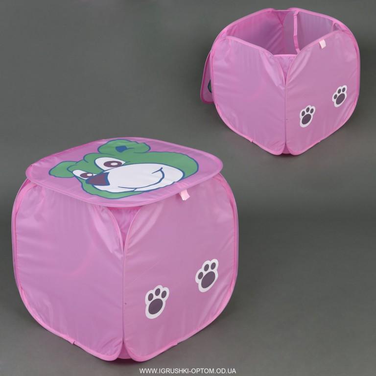 Корзина для игрушек розовая Собачка