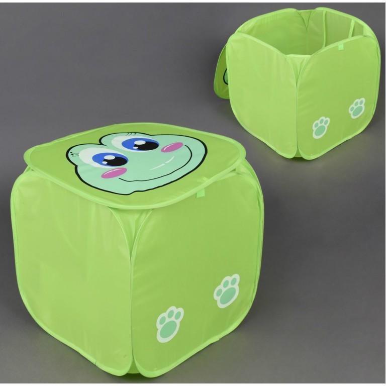 Корзина для игрушек зеленая Лягушка