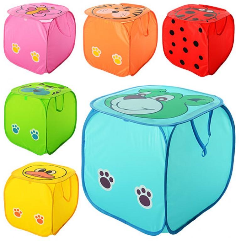 Корзина для игрушек квадратная в ассортименте
