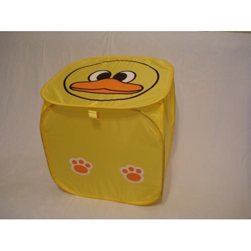 Корзина для игрушек квадратная желтая уточка