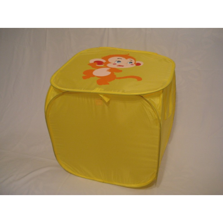 Корзина для игрушек квадратная желтая обезьянка
