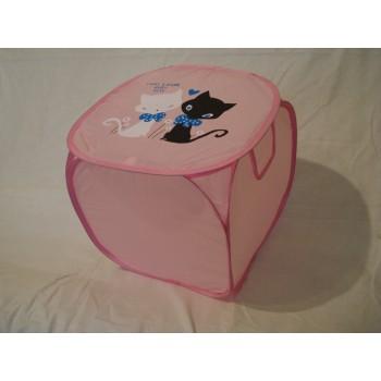 Корзина для игрушек Котики мини розовая
