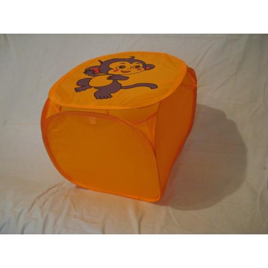 Корзина для игрушек Обезьянка мини желтая