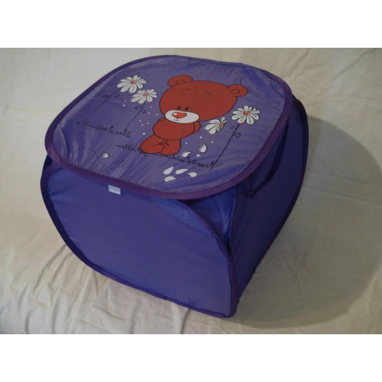 Корзина для игрушек Медвежонок мини фиолетовый