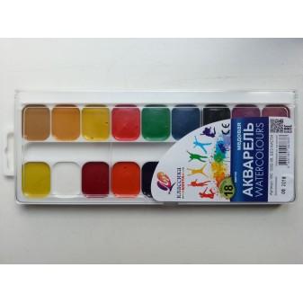 Краски акварель медовая классика 18 цветов Луч
