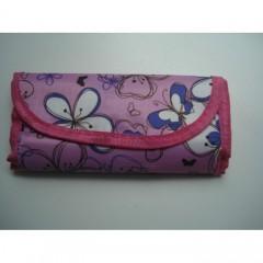 Разноцветные крючки для вязания в розовом чехле 10 номеров