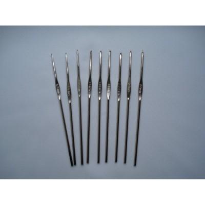 Металлические крючки для вязания Rose набор 9 номеров