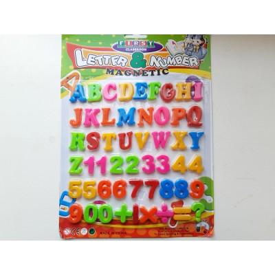 Магнитный английский алфавит с цифрами 21 на 28 см