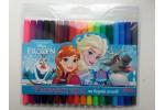 Фломастеры для досок на водной основе цветные Frozen в наборе 18 цветов