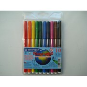 Фломастеры для досок на водной основе цветные Centropen в наборе 10 шт