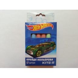 Мелки разноцветные для мольберта Hot Wheels 12 шт разноцветные