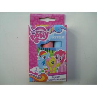 Мелки разноцветные для досок Jumbo Little Pony средние в наборе 3 шт