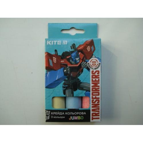 Мелки разноцветные для досок Jumbo Transformers средние в наборе 3 шт
