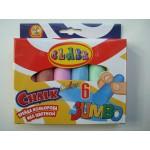 Мелки разноцветные для досок Jumbo большие в наборе 6 шт