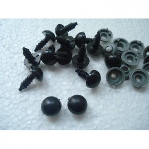 Носик черный круглый с фиксатором пластиковый