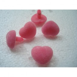Носик розовый мех для игрушек размер 2.3 на 2.0 см