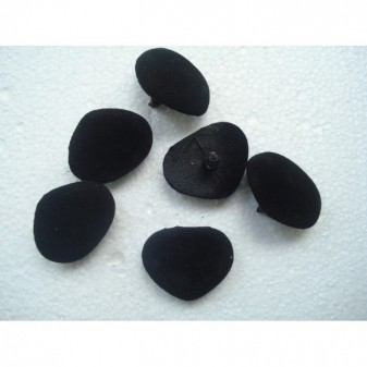 Носик бархат черный размер 3.5 на 2.8 см
