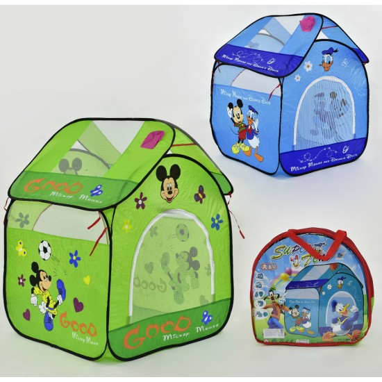 Палатка детская голубая Домик Микки Мауса