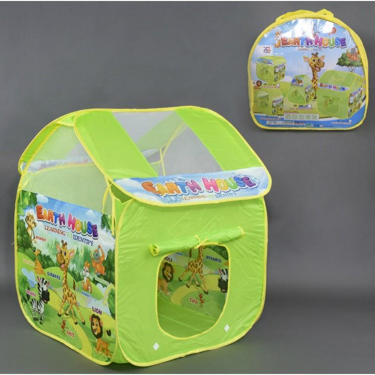 Детская палатка Earth House зеленая