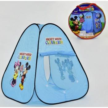 Палатка детская голубая Микки Маус