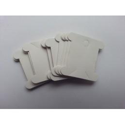 Бобины (шпули) для мулине картонные белые