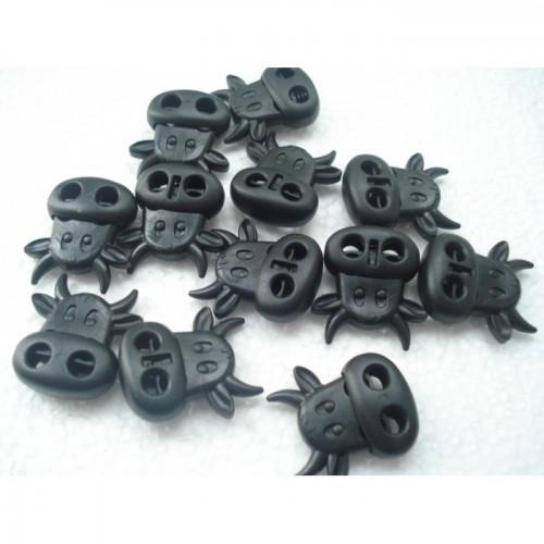 Стопперы Коровка черный пластик 25 на 25 мм