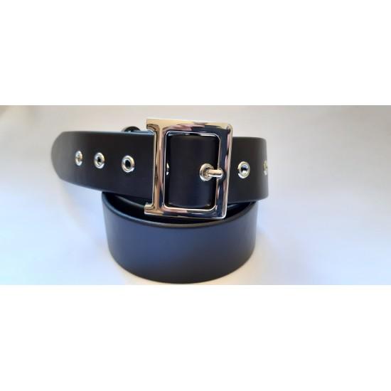 Ремень женский кожаный черный гладкий коллекция Christian Dior ширина 4 см длина 130 см