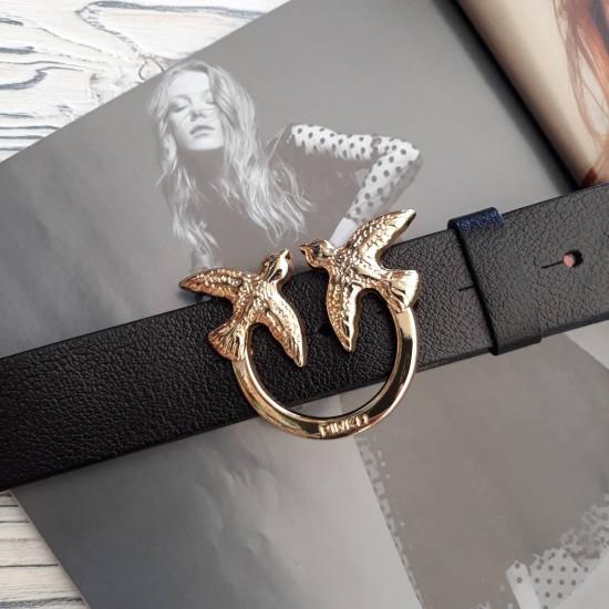 Ремень женский кожаный коллекция PINKO ширина 4 см длина 130 см