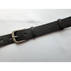Ремень мужской кожаный черный 3.5 см ширина