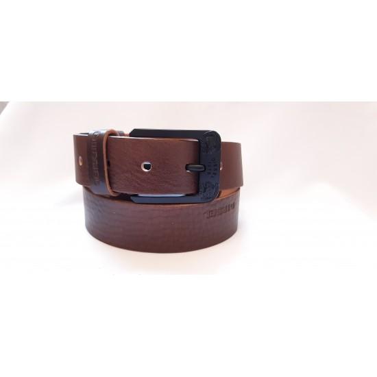 Ремень мужской кожаный коричневый коллекция DIESEL ширина 4 см длина 130 см Итальянская кожа