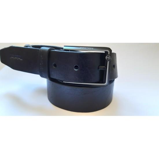 Ремень мужской кожаный черный коллекция TIMBERLAND ширина 4 см длина 130 см Итальянская кожа
