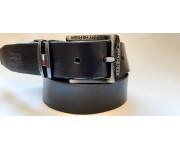 Ремень мужской кожаный черный коллекция TOMMY HILFIGER ширина 4 см длина 130 см Итальянская кожа