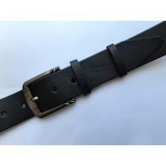 Ремень мужской кожаный черный 4.5 см ширина