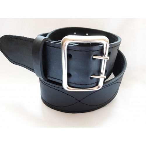 Ремень офицерский кожаный черный 5 см ширина длина 100 см