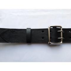 Ремень офицерский кожаный черный 5 см ширина длина 140 см